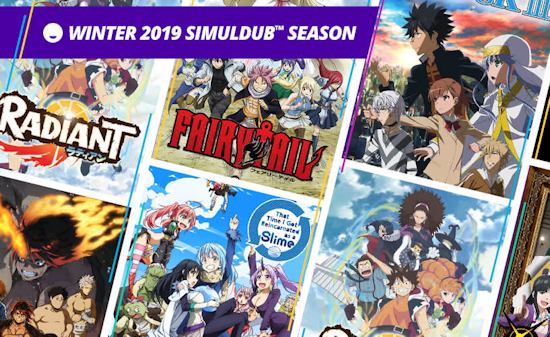 Funimation Winter Simuldubs announced