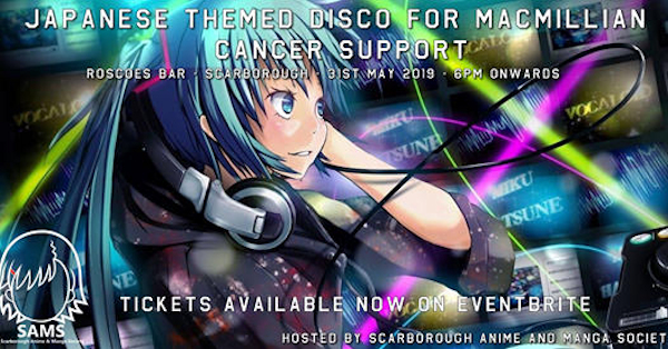 Japanese theme disco in aid of Macmillan Cancer Support