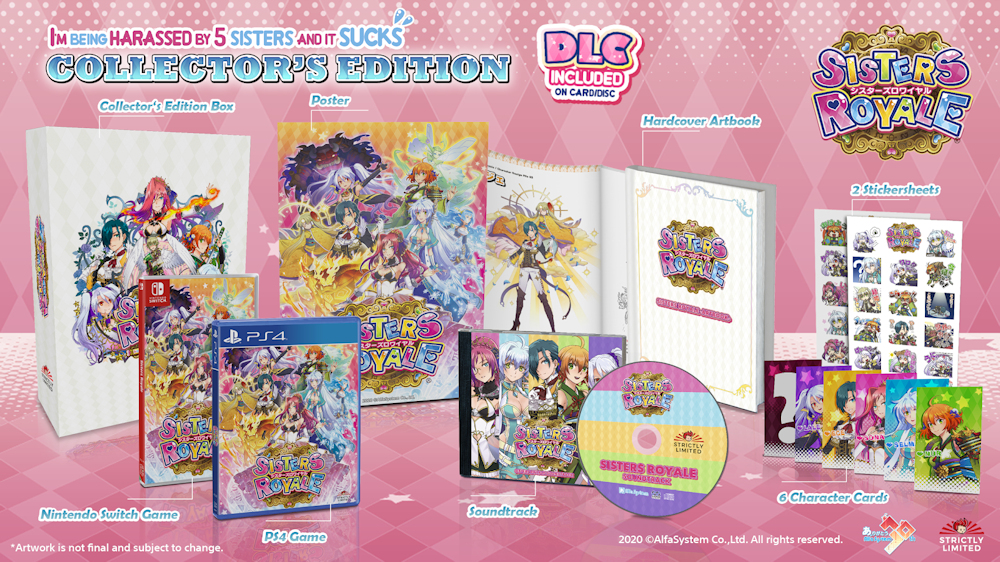 Sisters Royale Physical Edition coming to Strictly Limited Games