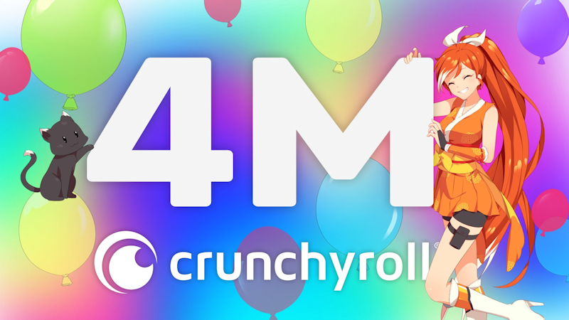 Crunchyroll hits 4 million subscribers